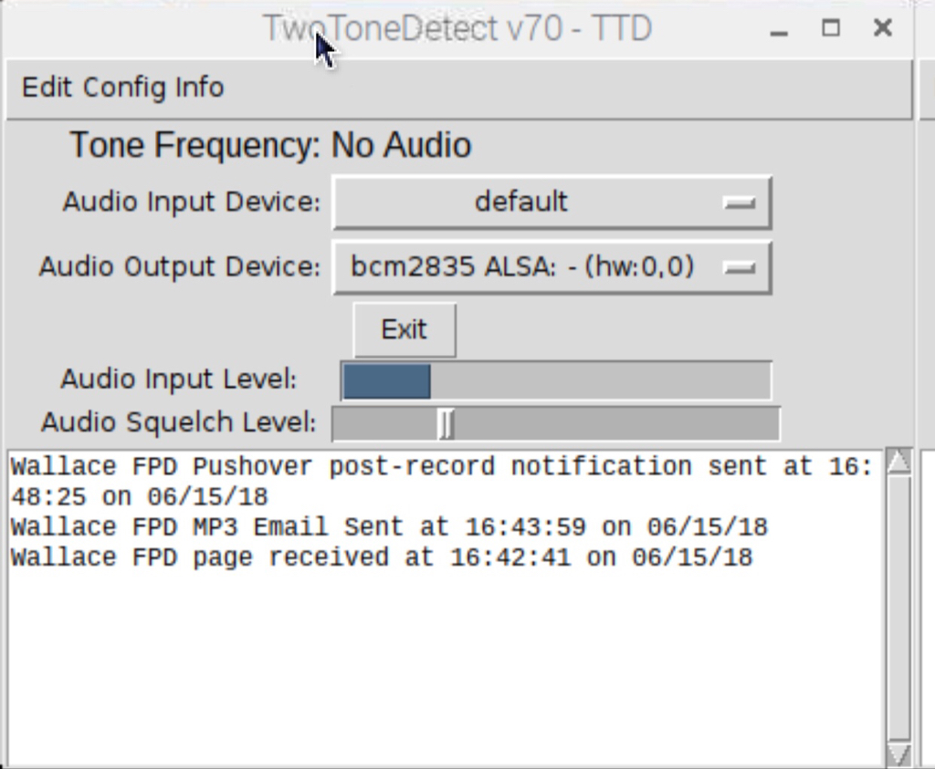 TwoToneDetect - TwoToneDetect on a Raspberry Pi - How To