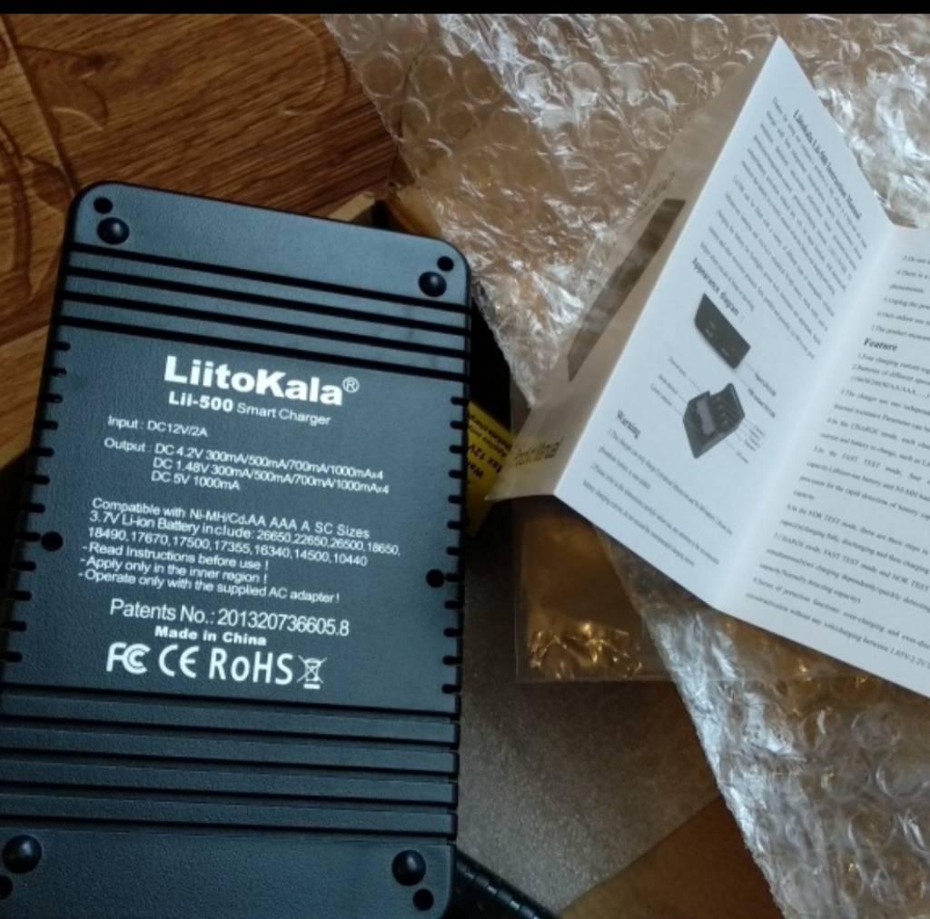 Продам зарядное. LiitoKala Lii500 802