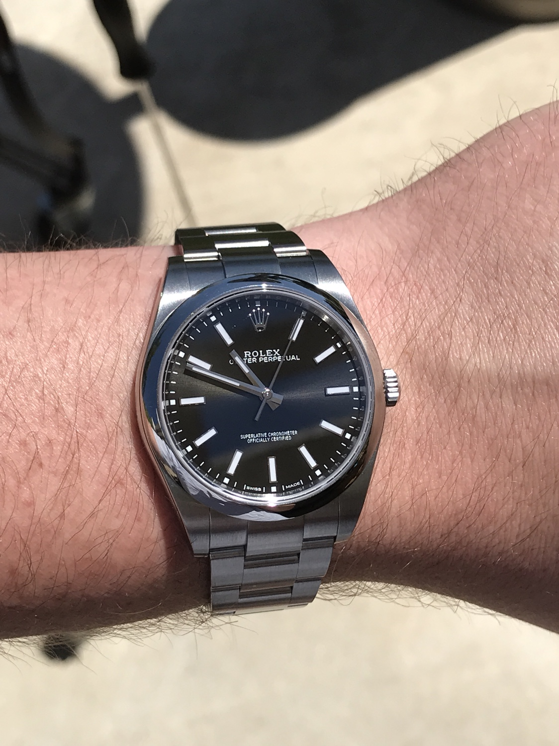 40c11998cb4 Haven t seen many of these on here but I m absolutely in love with my new  114300 Black Oyster Perpetual 39!