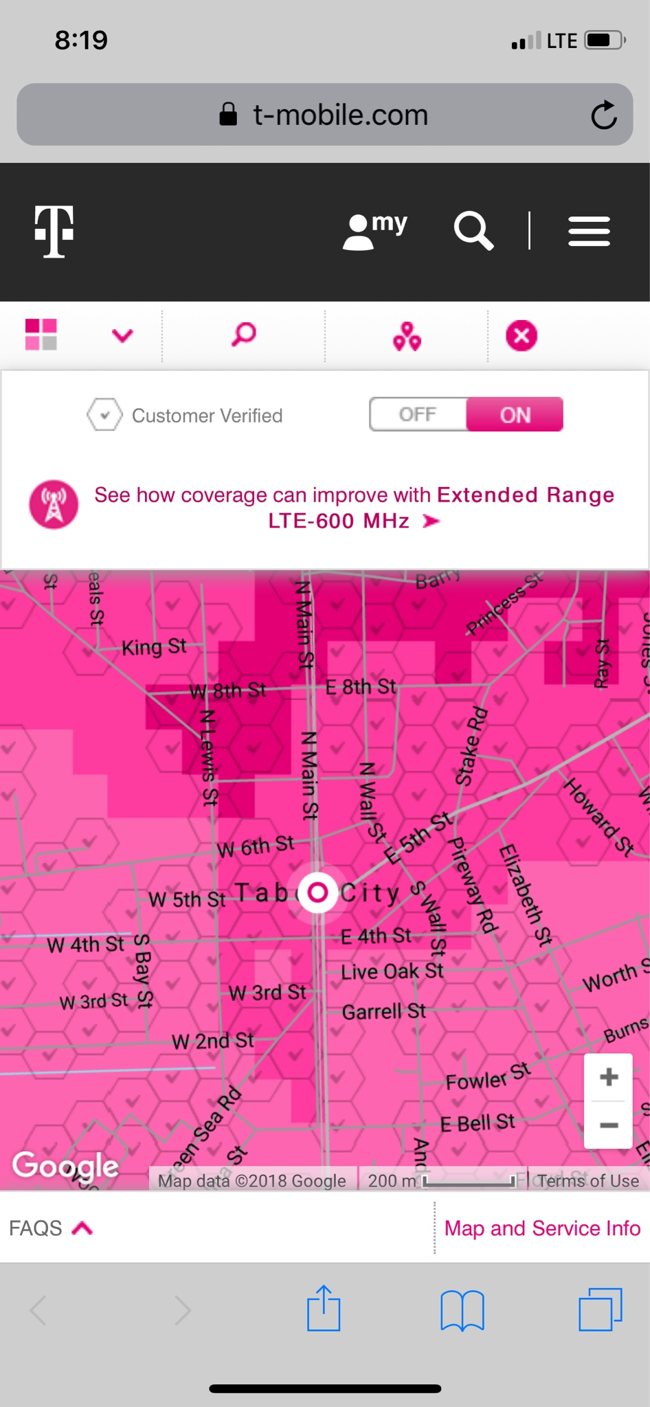Tabor City Nc Map.T Mobile Tabor City Nc 600 Mhz Test