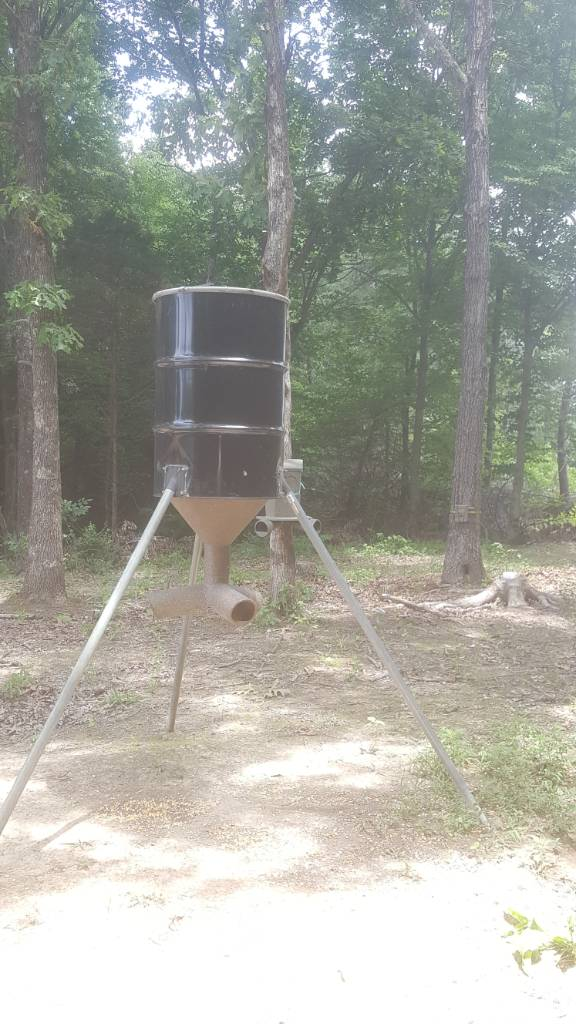 Homemade deer feeder advice appreciated