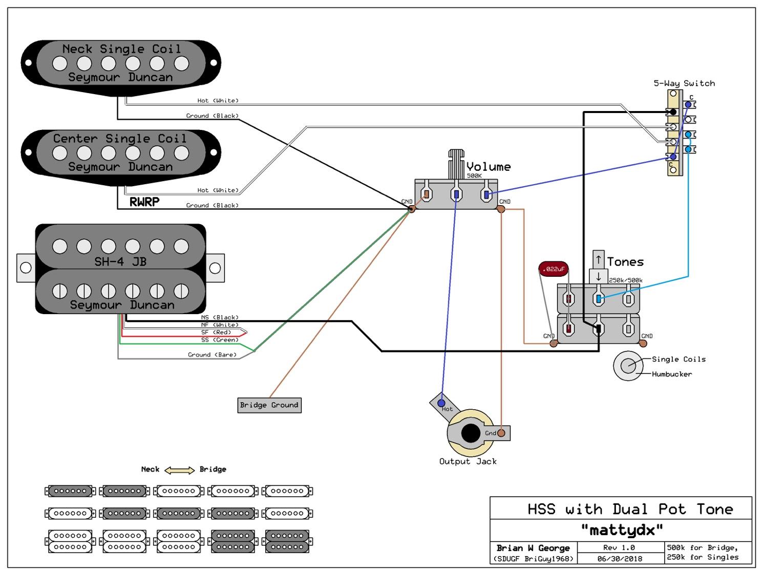 Wiring Schematic For Hss 1 Tone