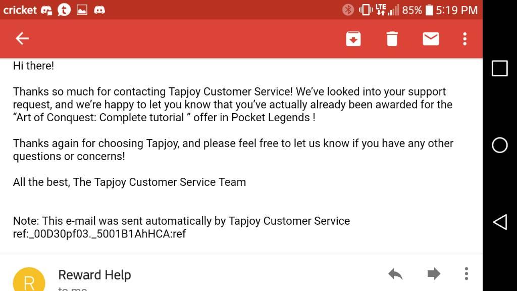 Plat problem with tapjoy