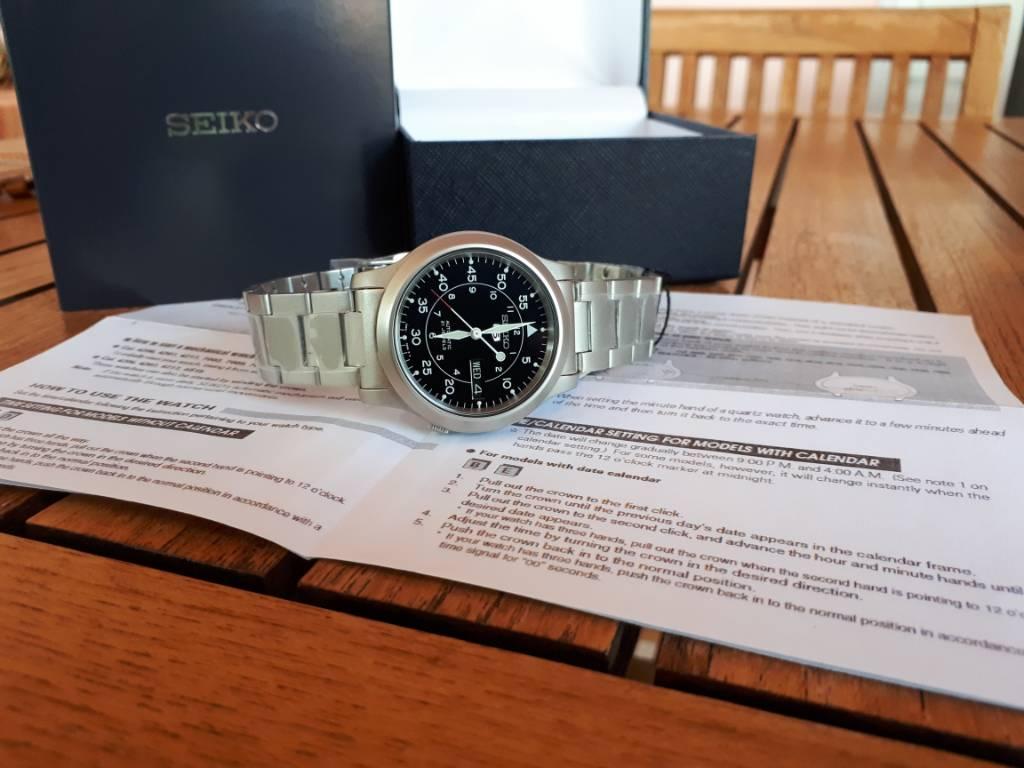 [Ολοκληρώθηκε] Πωλείται Seiko snk809 - Αγγελίες για μεταχειρισμένα ρολόγια