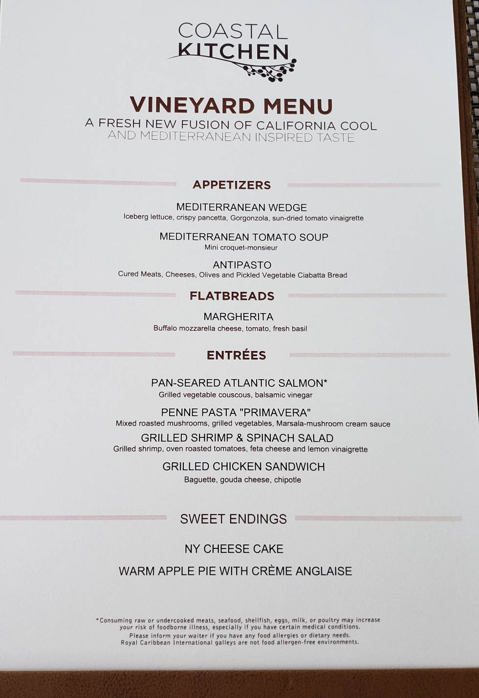 Oasis of the Seas Coastal Kitchen - Cruise Critic Message Board Forums