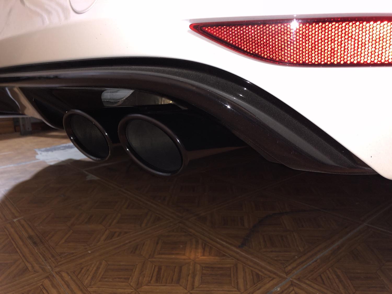 VWVortex com - Chrome exhaust tips peeling/divots