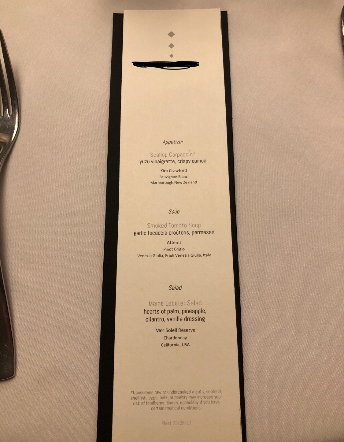 New Chef S Table Menu On Majesty Cruise Critic Message Board Forums