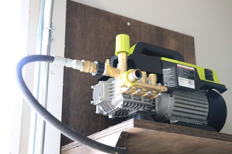 Diy Pressure Washer Wall Mount Shelves Reel Etc Plans Inside
