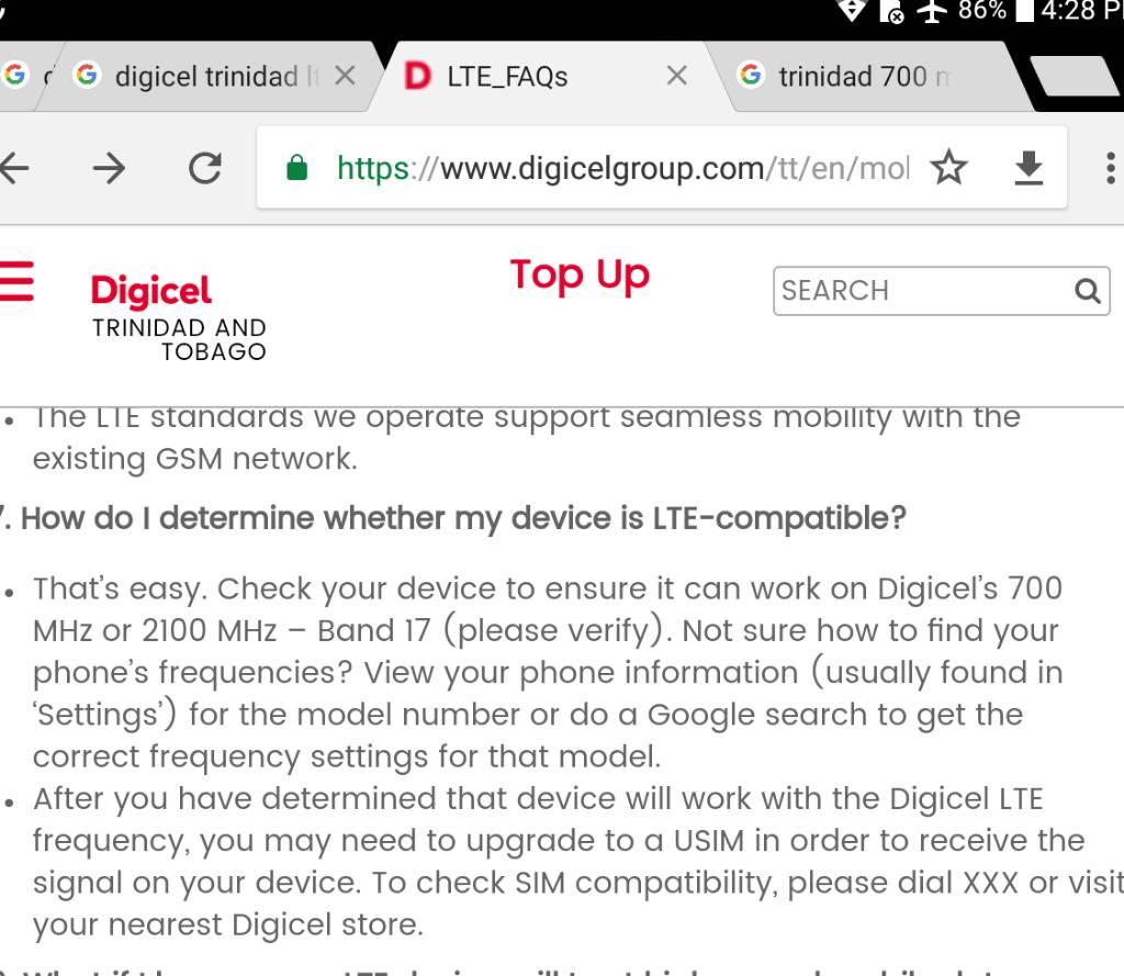 Digicel LTE - Page 6- trinituner com