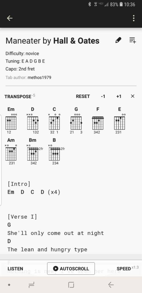 Guitar App Android Review Ultimate Guitar Chords Tabs The