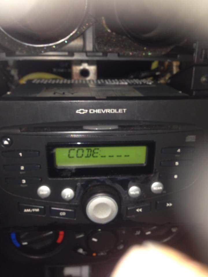 Chevy Aveo Radio Pincode