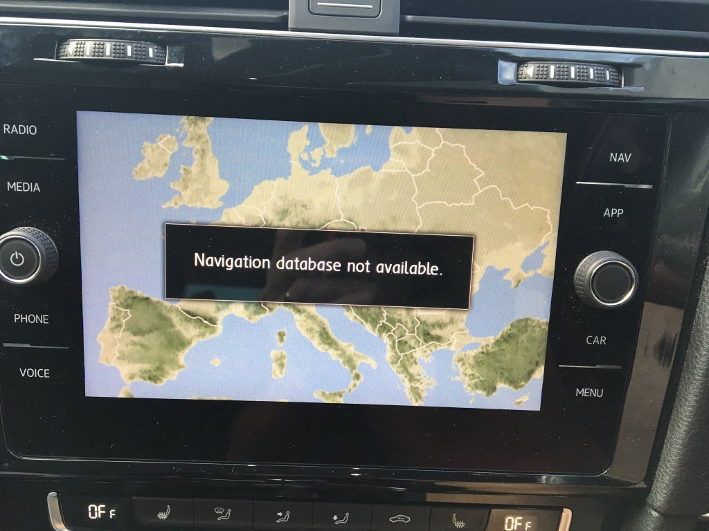 Updated Nav and now it's not working - VW Golf R MK7 Chat - VWROC