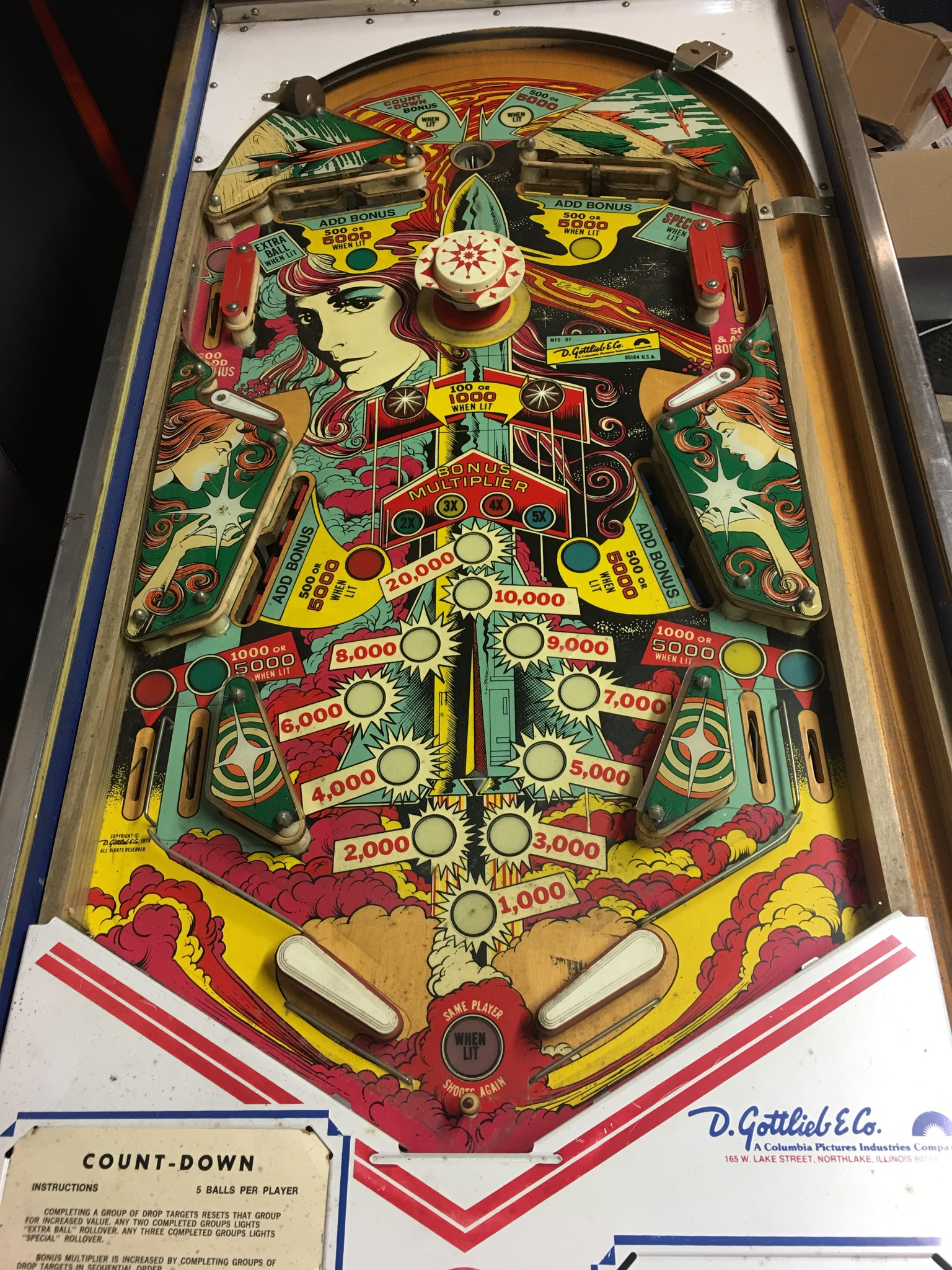count down pinball