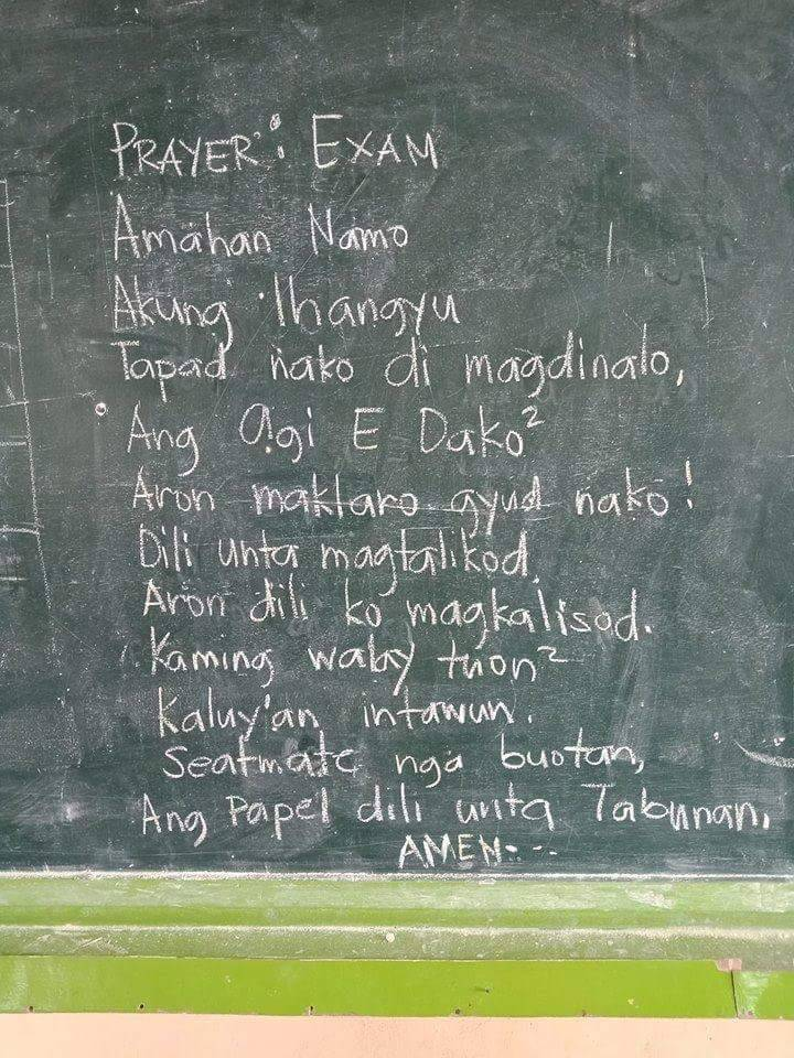3f30004ac1b064730a3e94e3cba122bb - Bisaya Prayer Before Exam - Tira-Pasagad | Saksak-Sinagol