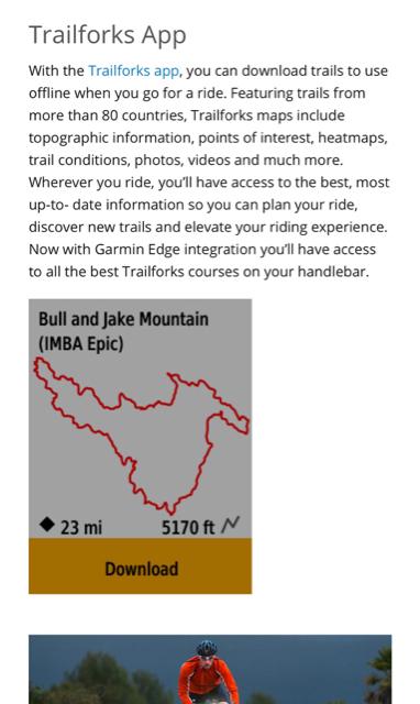 Trailforks app on Garmin Edge devices- Mtbr com