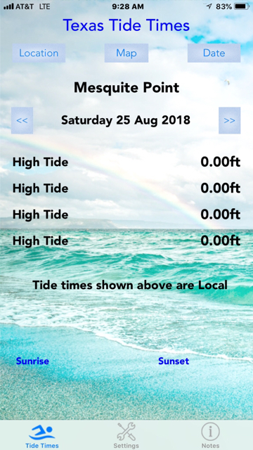 Texas tide table app - 2CoolFishing