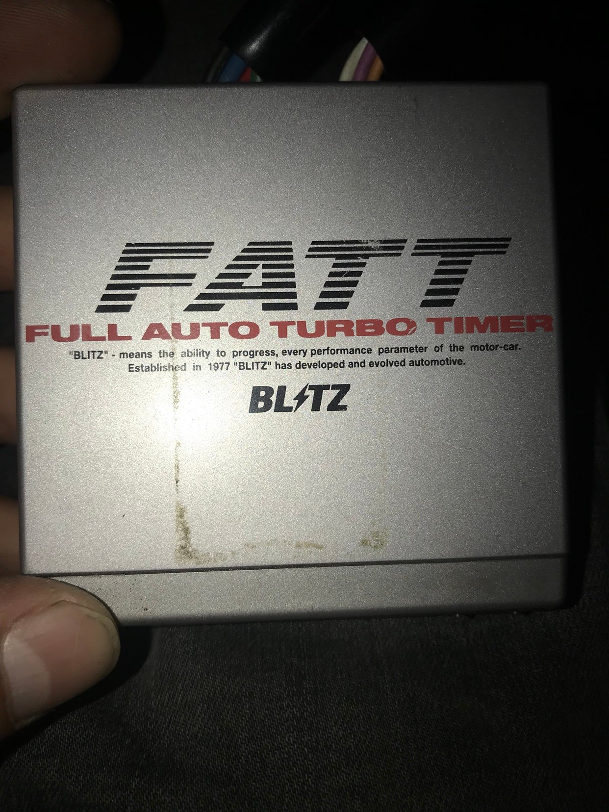 Blitz Fatt Turbo Timer Wiring Diagram Library Reddy G 2 Anyone Here Know Where I Can Find A For This Having