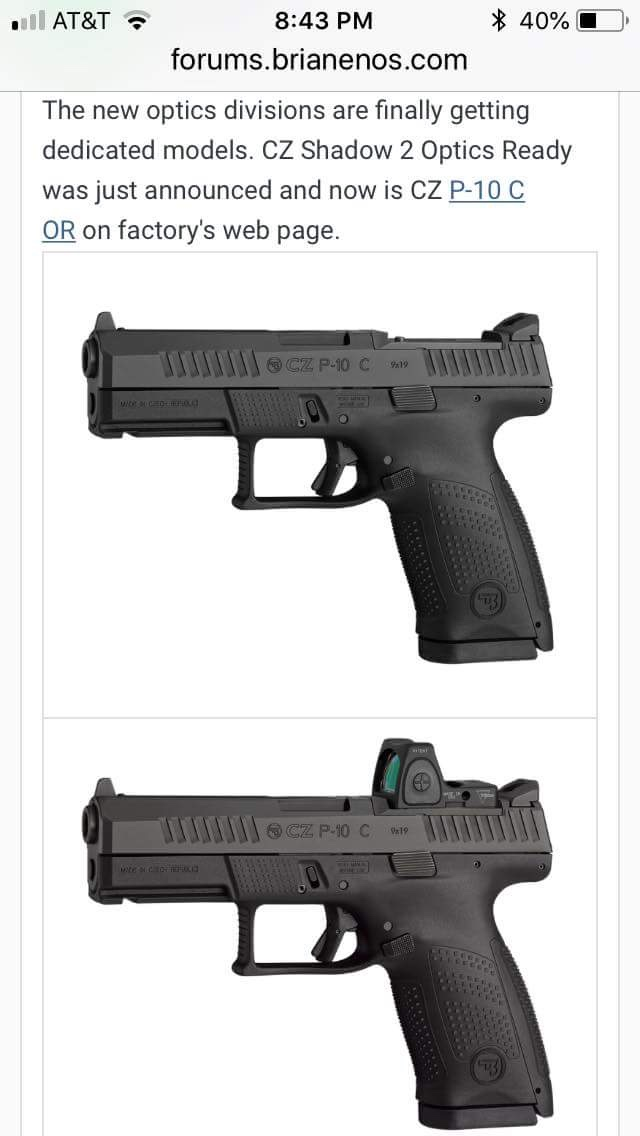 Hmmm    New Optics-Ready Pistols Soon