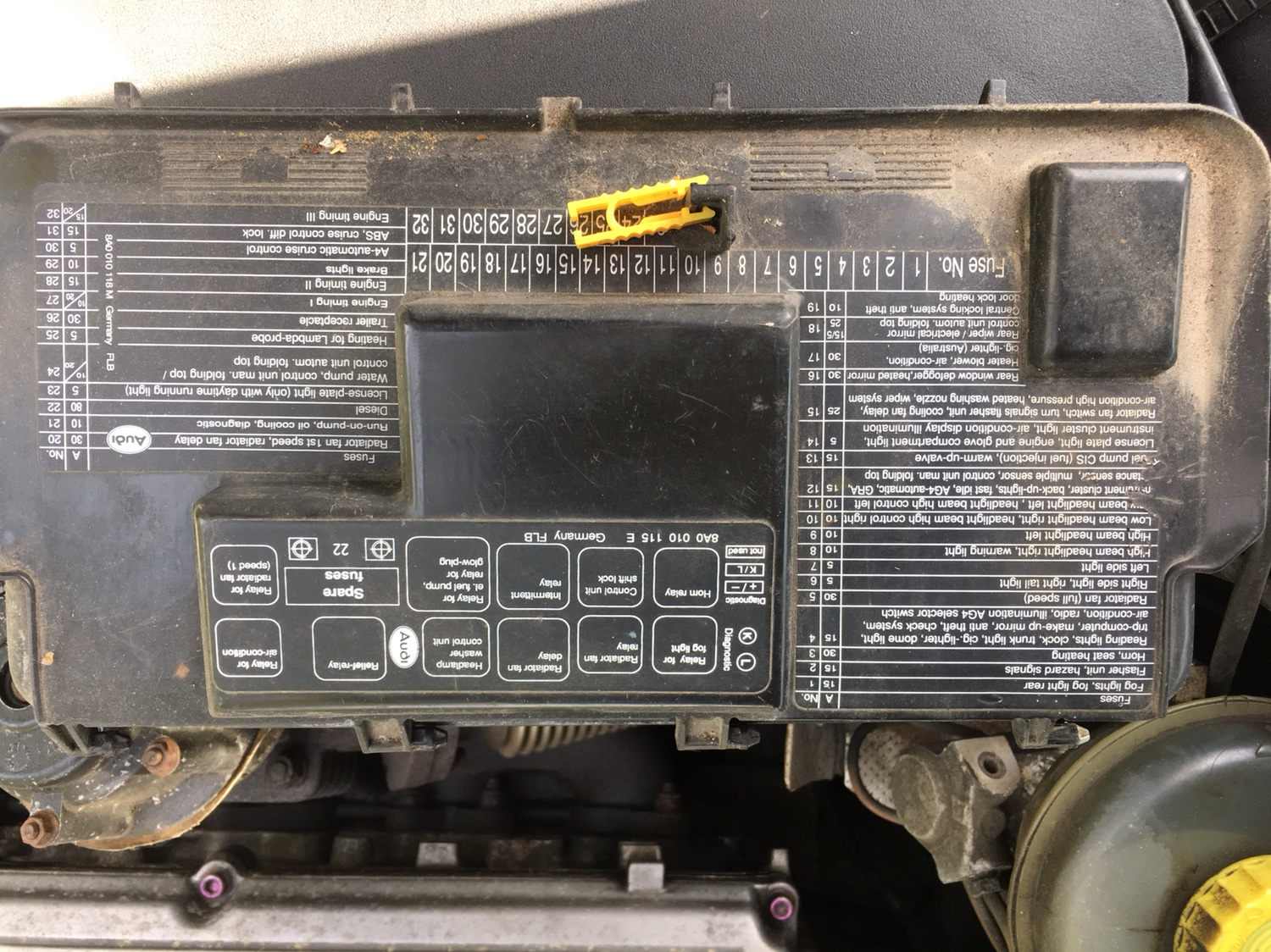 ABY fuse box - S2Forum - The Audi S2 Community | Audi S2 Fuse Box |  | S2Forum