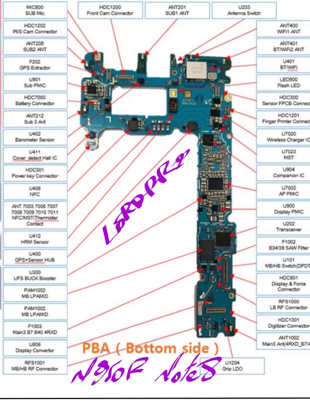 شروحات : مخطط هاتف note 8 N950F - الصفحة 1