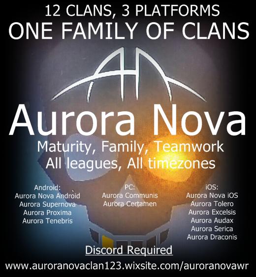 Non-Tanking Clan Recruiting - Aurora Nova | War Robots Forum