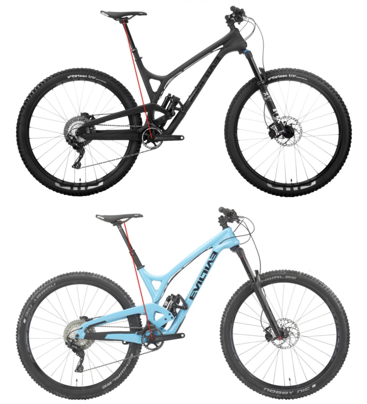 782ffb245be The steepening vs the slackening sta comparison. I lined up the front and  rear of the back wheel to scale the bikes. I traced the Offering effective  sta, ...