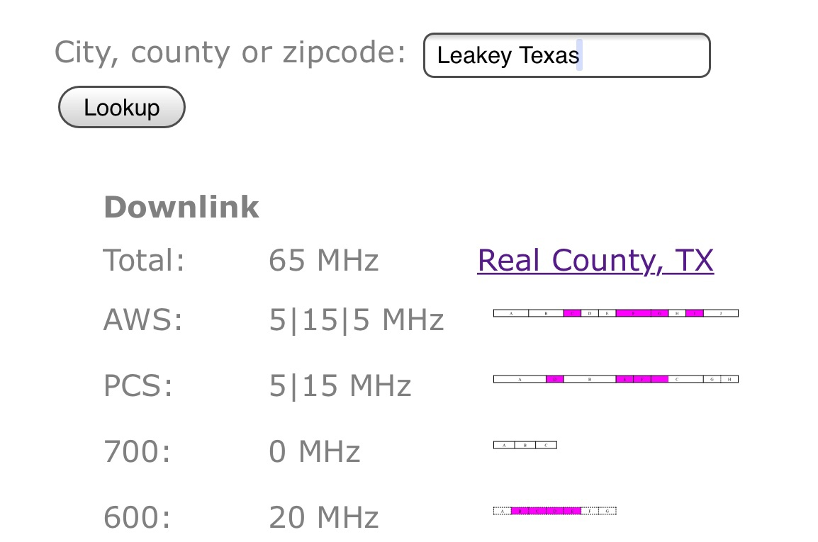 T-Mobile Garner SP / Leakey Texas coverage