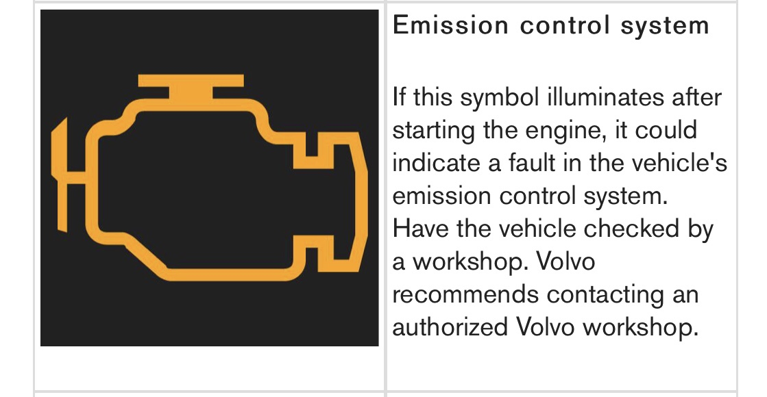 Check Engine/Emission control light coming on