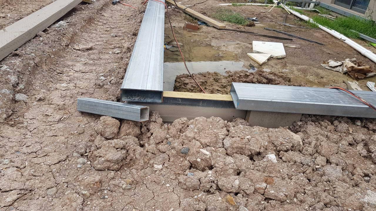 Help fixing pool fence to steel