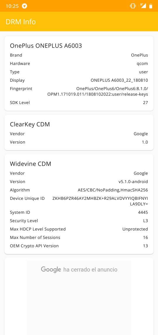 Widevine L3 con OxygenOS stock (sin root, bootloader cerrado) - HTCMania