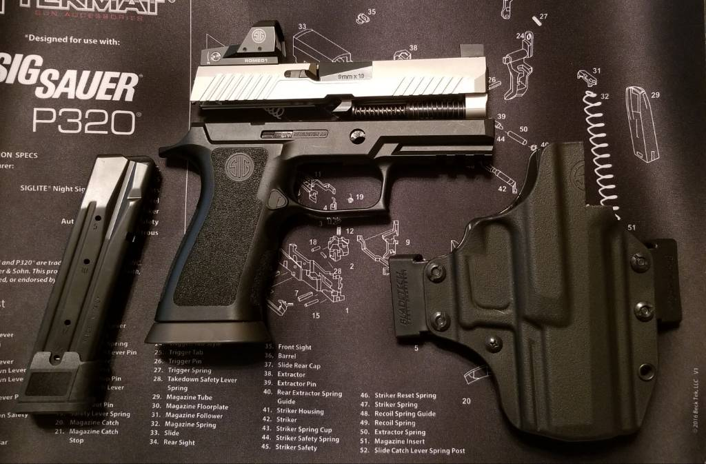 For Sale: Sig P320 TNRS RX Slide Assembly With X Carry Grip