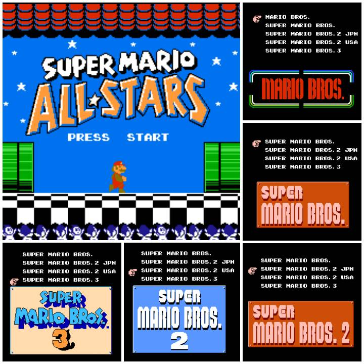 Super Mario All Stars Nes Smb Nes Quadrilogy Hack