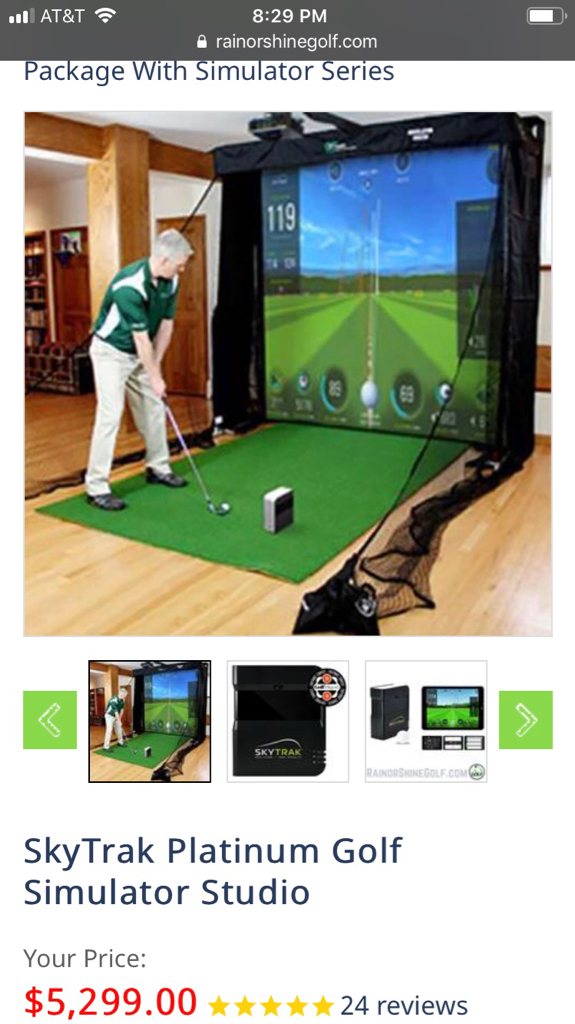 Anybody have Rain or Shine Skytrak Platinum Golf Simulator Studio