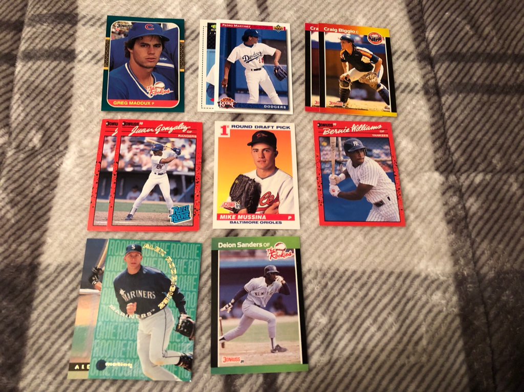 Pedro Martinez 1991 Classic Best 1992 Upper Deck Craig Biggio 2 1989 Donruss Juan Gonzalez 1990 Mike Mussina Score