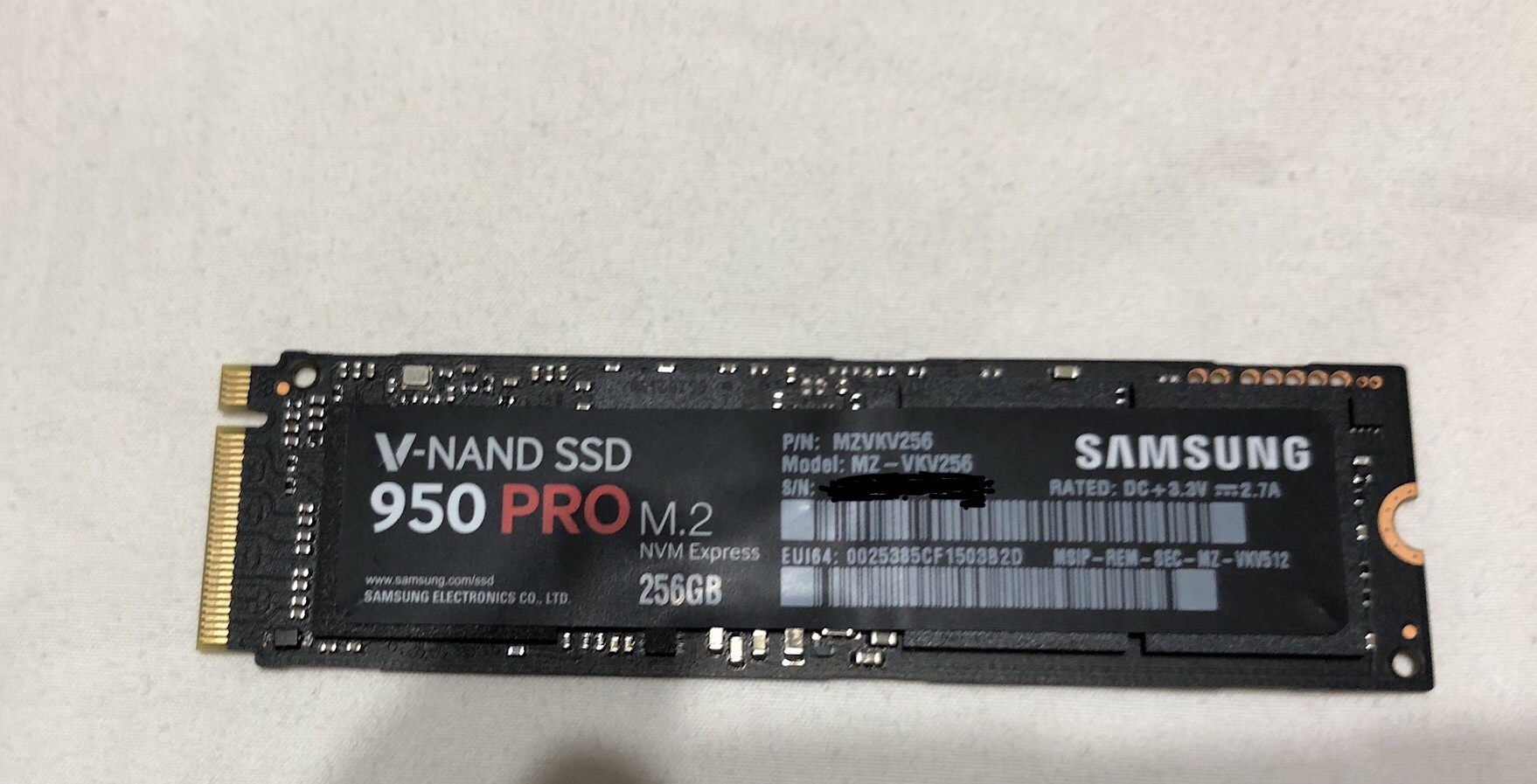[VENDIDO] Samsung Pro 950 M.2 250 GB