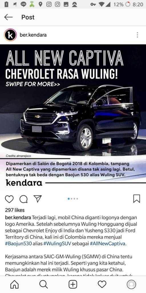 All New Captiva For Colombia Dm Rebadge Dari Baojun 530