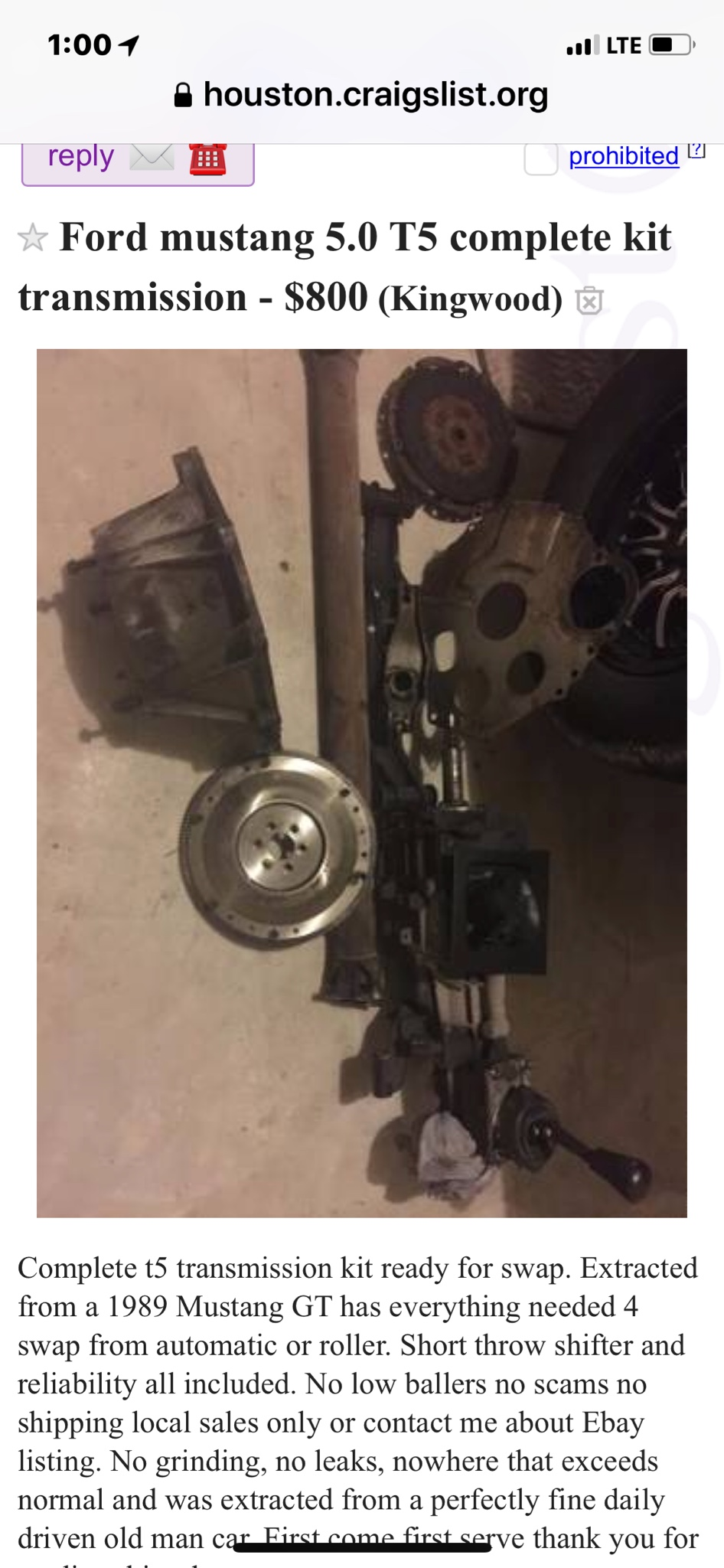 C4 to T5 conversion  - Vintage Mustang Forums