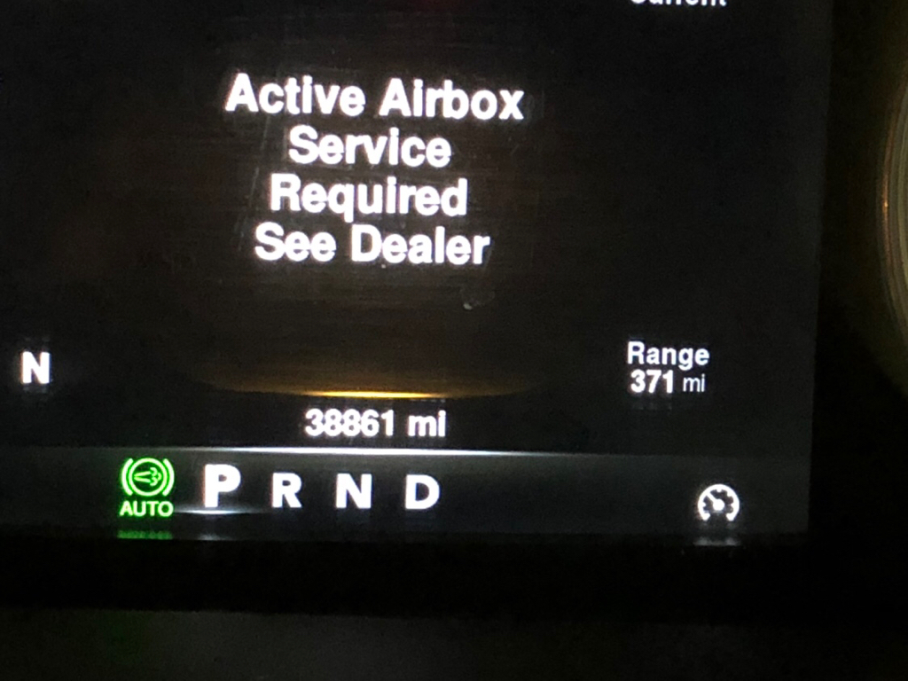 Active air box service required on 2016 2500 6 7 - Dodge