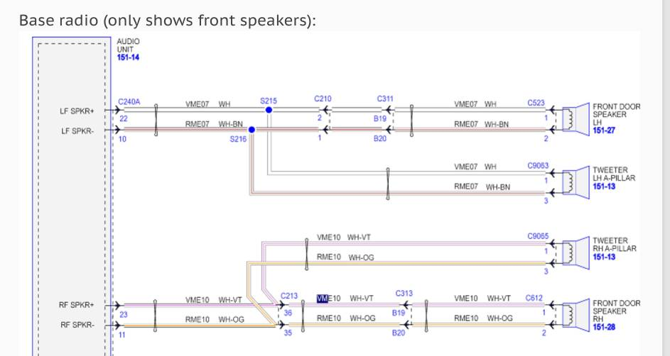 audio wiring diagram | ford mustang ecoboost forum  ford mustang ecoboost forum