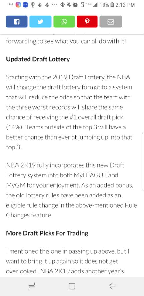 Official NBA 2k19 MyLeague/MyGM Thread - Page 91 - Operation Sports