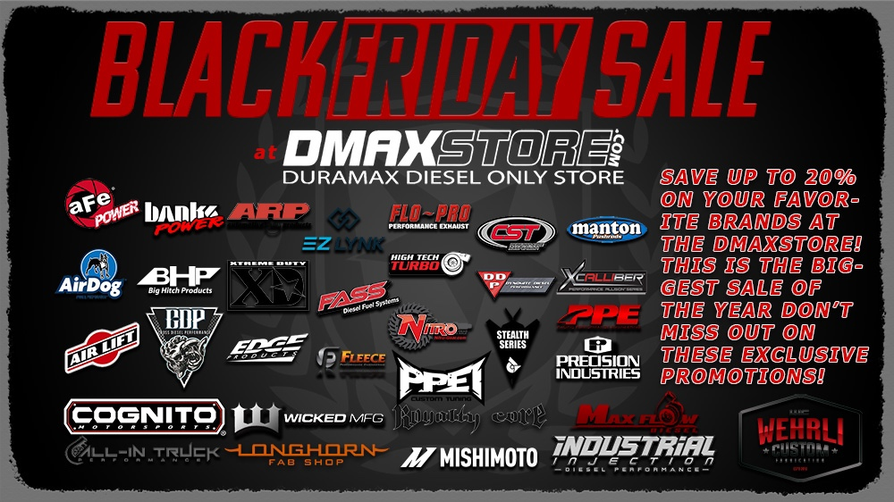 Black Friday - Cyber Monday Dmax Store Sales - Diesel Place