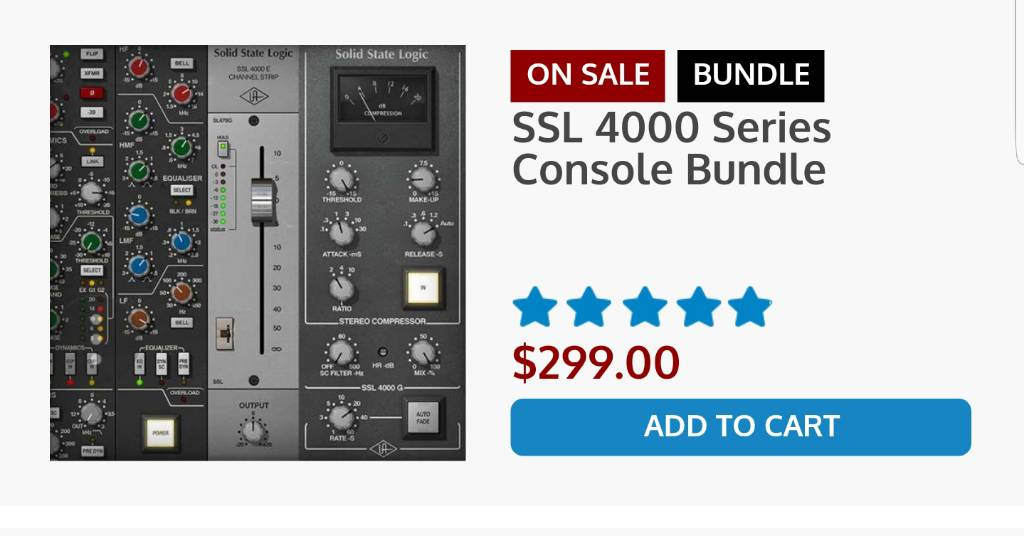 Question about SSL 4000 E Channel strip collection and SSL 4000