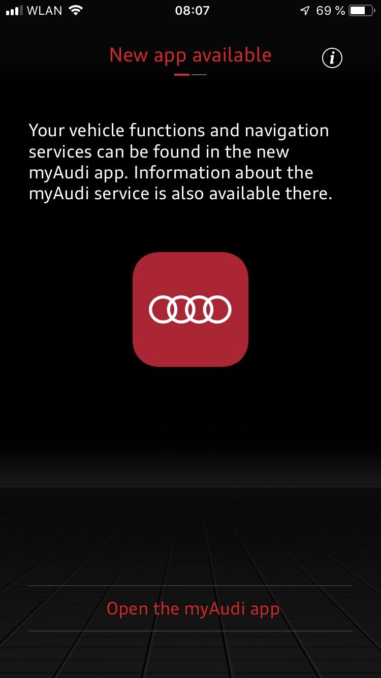 Dont update MMI connect app it will make it obsolete!!! | Audi-Sport net