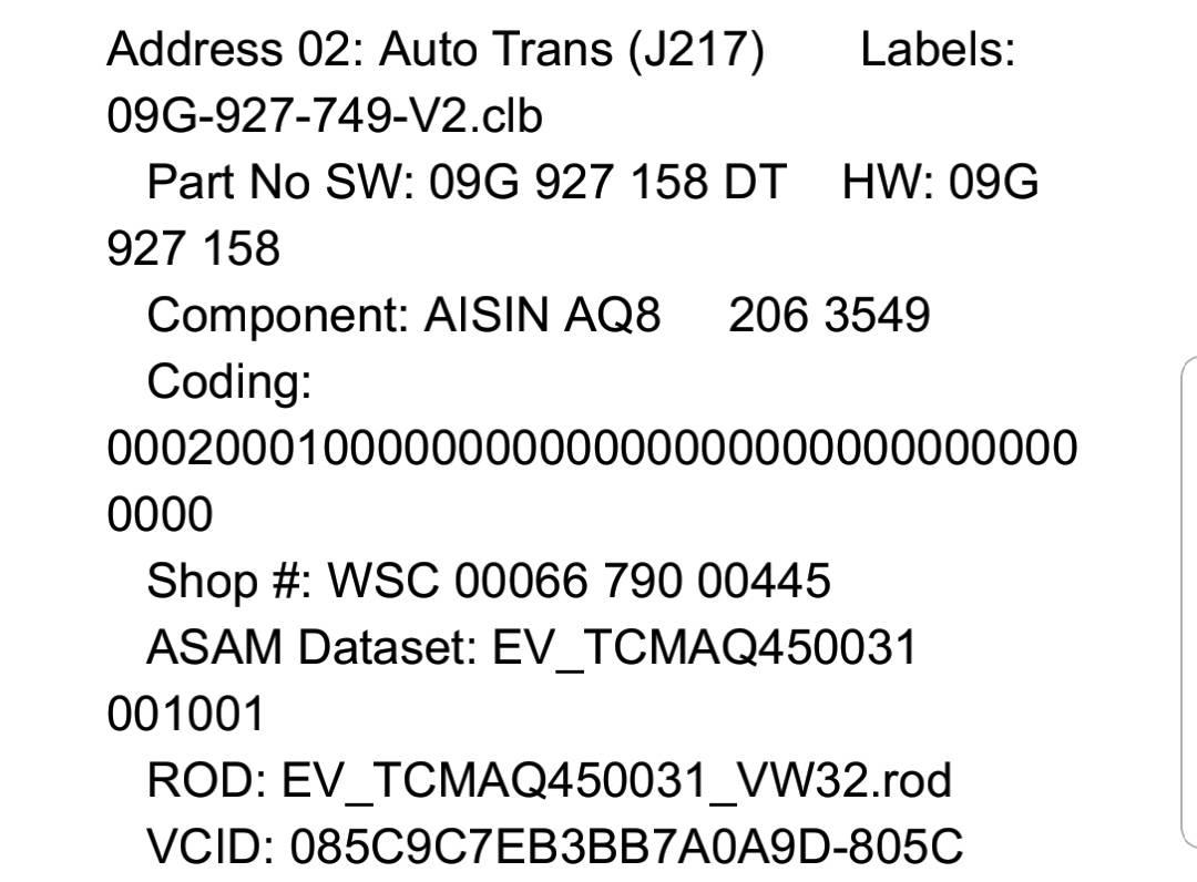VWVortex com - Any transmission software changes for 2019 model?