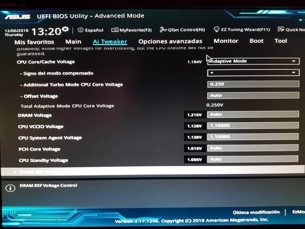 Afinar overclock i7 6700k 4.6ghz.