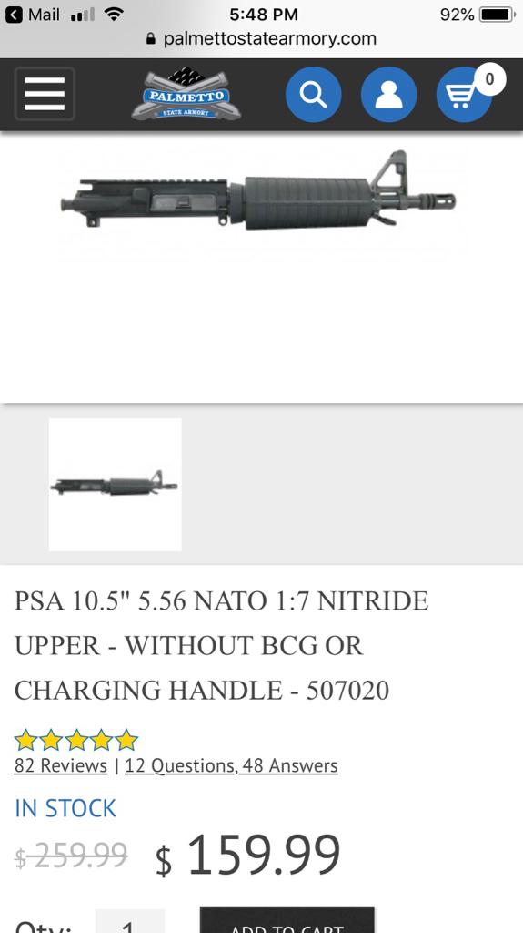 ar-10 10 5'' pistol build