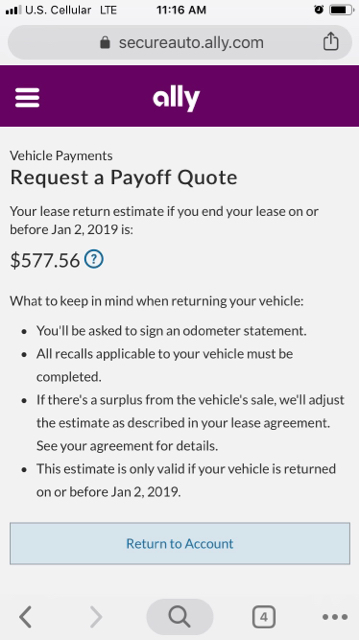Ally Financial Payoff >> Vwvortex Com Tfl Lounge Lease Vs Cheap Car