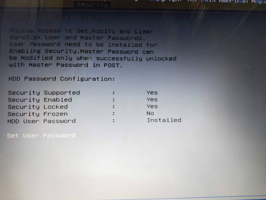 Hard disk password - Data Recovery Forum Home