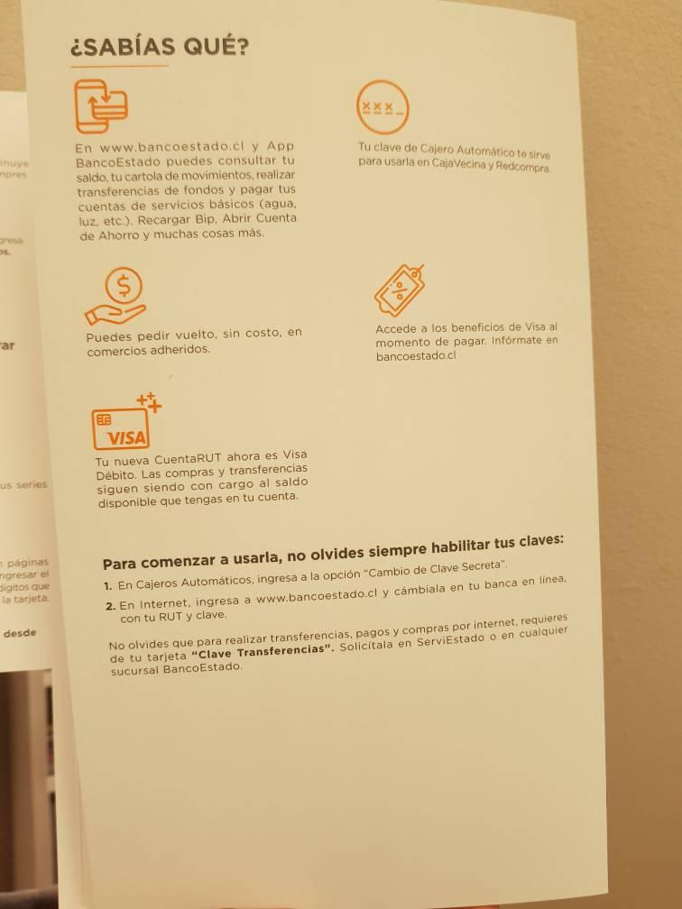 BancoEstado comenzó la marcha blanca de CuentaRUT Visa