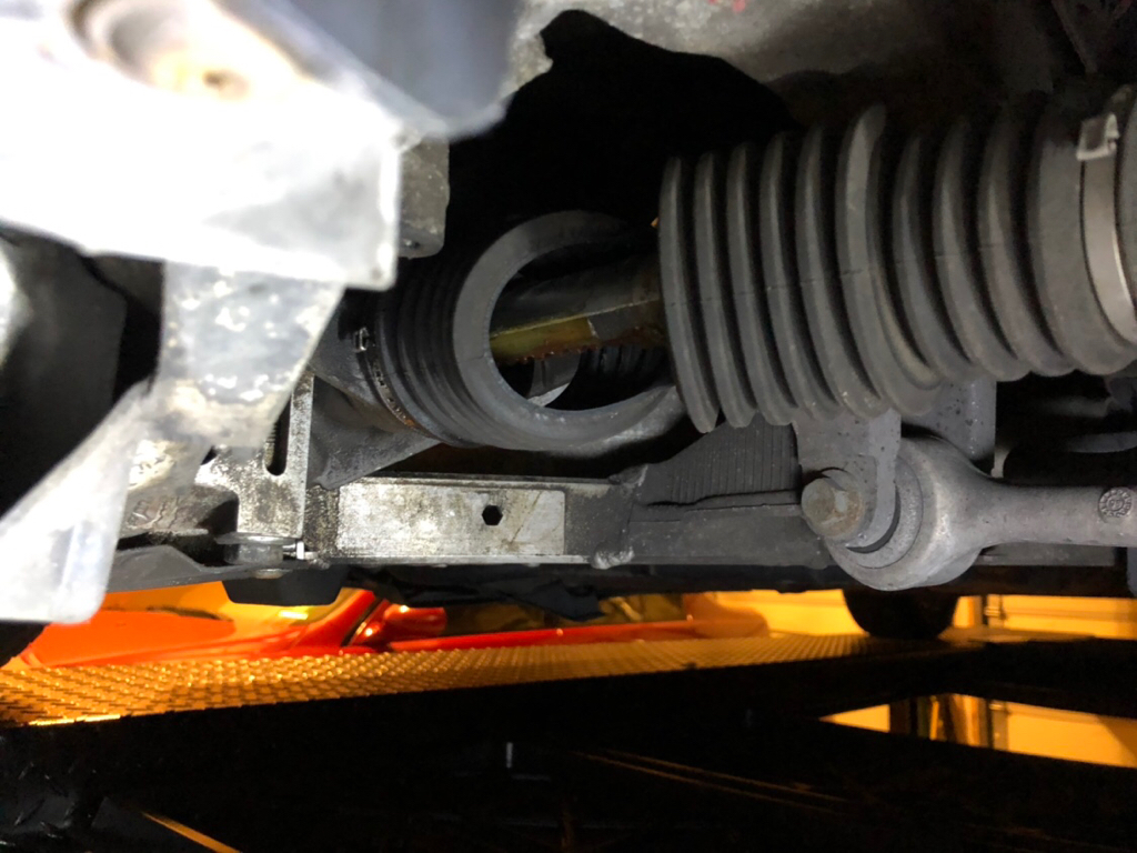 Steering rack boot torn